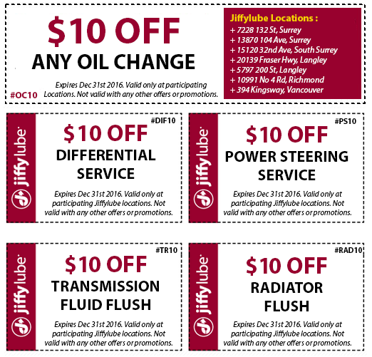 Coupons for jiffy lube transmission flush